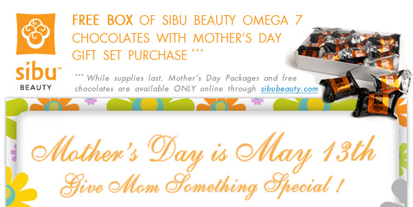 Free Box of Sibu Beauty Chocolates with Mother's Day Gift Set Purchase! (while supplies last)